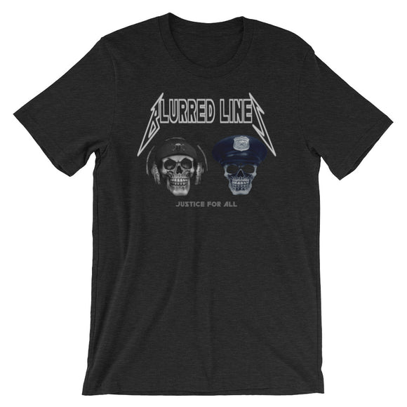 Blurred Lines Skullz Unisex/Men's Heathered T-Shirt