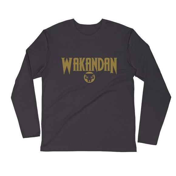 Wakandan Long Sleeve Fitted Crew