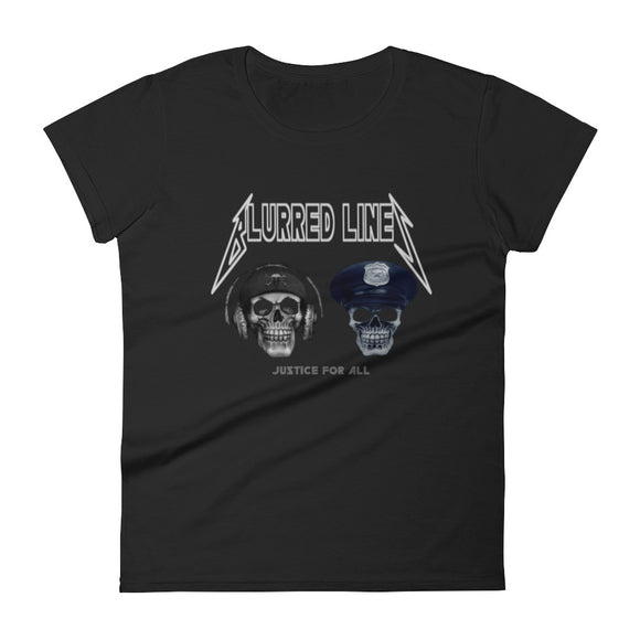 Women's Blurred Lines Skullz T-Shirt