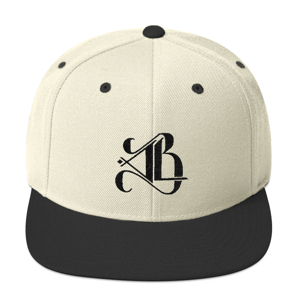 Logo Snapback Hat - Black Embroidery