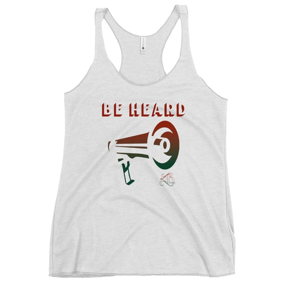 Be Heard Women's Racerback Tank