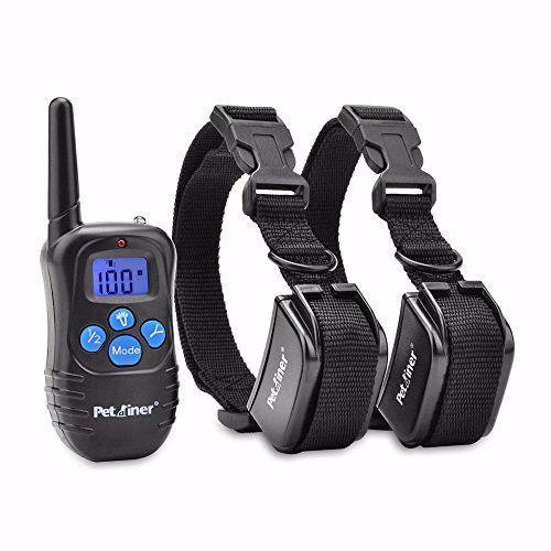 Petrainer PET998DRB2 E-Collar Two Shock Collars Dog Training Collars Remote Transmitter Two Receivers