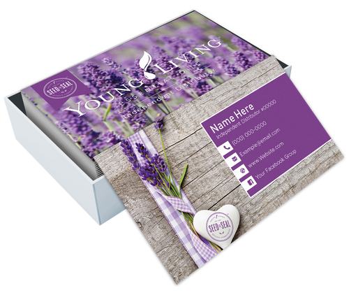 Custom Young Living Business Card Design 13 Above Prints