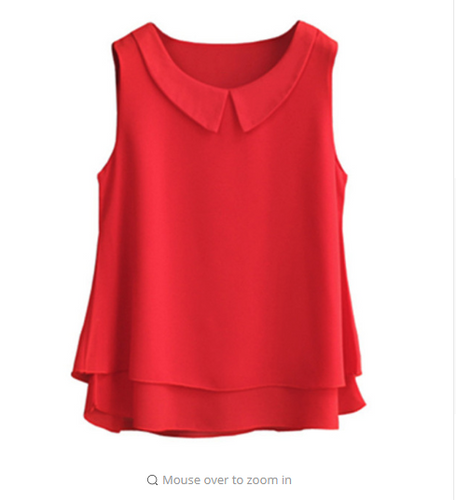 Fashion Brand Female Chiffon Shirts Women Summer 2018 Casual Top Plus Size S-4XL Loose Sleeveless Thin And Light Chiffon Blouse