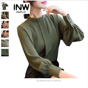 New Autumn Spring Tops Women Fashion Ladies Long Sleeve Shirts Casual Chiffon Blouse 2018 Work Wear Office Blusas Femininas
