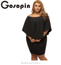 Gosopin Off Shoulder Dresses Plus Size Multiple Dressing Layered Black Mini Dress Vestido Casual Big Women Clothes LC22820
