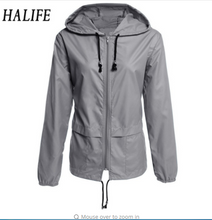 Women Jacket Waterproof  Summer Outwear Hoodies Packable Raincoat Sporting Jacket Chaqueta Mujer Basic Coat Windbreaker 610