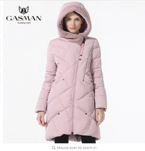 GASMAN 2018 New Winter Collection Brand Fashion Thick Women Winter Bio Down Jackets Hooded Women Parkas Coats Plus Size 5XL 6XL