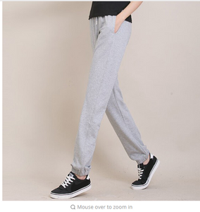 Women's Basics CasualPants Loose Plus Size XXXL Slacks Ladies Girls Solid Stretch Sweat Pants Wei Trousers For Ladies/Students