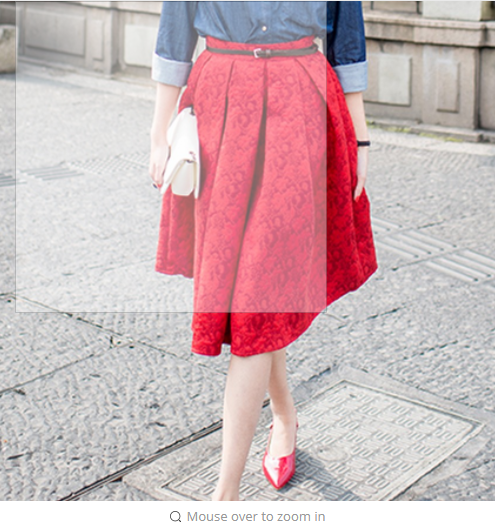 EXOTAO  Retro High Waist Skirt Women Elegant Female Jacquard Mini Pleated Skirts Knee-Length Saias A-line Red Jupe
