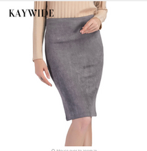 KAYWIDE Women Suede Midi Skirt Female Spring Summer Multi Color Basic Tube Bodycon Pencil Skirts Saia Femininas S161207