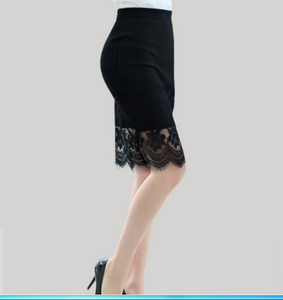 Lace skirt  Leisi package hip skirt was thin waist and long skirt career step skirts women