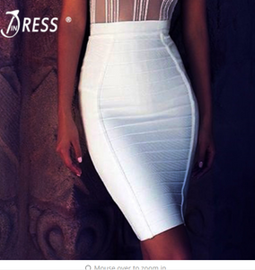 INDRESSME Free Shipping New Pencil Bodycon Skirt Striped Knee-Length Bandage Skirts Wear To Work Summer Wholesale