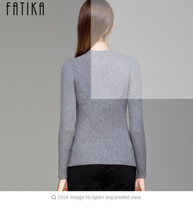 FATIKA Women Turtleneck Knitted Sweater Female Knitted Slim Pullover Ladies all-match Basic Thin Long Sleeve Shirt Clothing