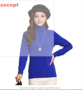 zocept Fashion Women's Cashmere Sweaters  Female Solid Color Turtleneck Long-Sleeved Knitted Soft Warm Wool Pullovers