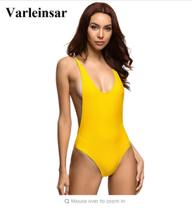 Bather 2018 New  1 one piece swimsuit Backless swim suit for women Swimwear Female Bathing suit swim Beachwear Monokini V111