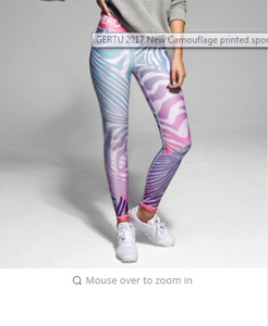 GERTU  New Camouflage printed sporting women leggings fitness lady legging leisure women sportes legging
