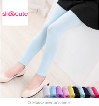 SheeCute Girls Leggings Spring Autumn canndy color pants Kids skinny full length leggings for 3-12Y girls SCH231