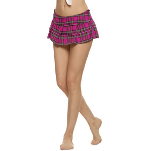 Women Fashion Lady Schoolgirl Cosplay Sleepwear Plaid Night Super Mini Pleated Skirt Short Skirt size S M L XL XXL