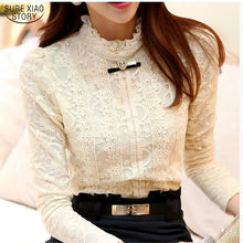 New Hot women tops Women Clothing  fashion Blusas Femininas Blouses & Shirts Fleece Women Crochet Blouse Lace Shirt 999