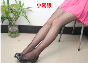 fashion white medium grid women high waist stocking fishnet club tights panty knitting net pantyhose trouser mesh lingerie TT016