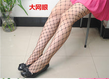 Black medium grid women high waist stocking fishnet club tights panty knitting net pantyhose trouser mesh lingerie TT016