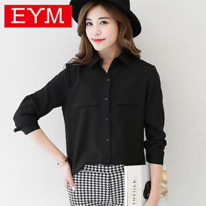 Brand Women Blouse New Casual Women's Long Sleeved Solid Shirt Plus Size Blouses Ladies Office OL Style Shirts Blusas