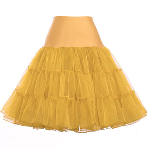 Tutu Skirt Silps swing Rockabilly Petticoat Underskirt Crinoline fluffy pettiskirt for Wedding Bridal Retro Vintage Women Gown