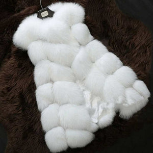 High quality Fur Vest coat Luxury Faux Fox Warm Women Coat Vests Winter Fashion furs Women's Coats Jacket Gilet Veste 4XL