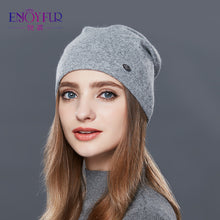 ENJOYFUR Autumn Winter Thick Warm Wool Hats For Women Good Quality Hat Cap For Girls Female Winter Caps