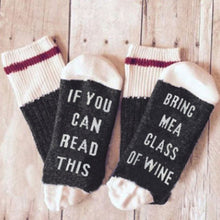 Custom wine socks If You can read this Bring Me a Glass of Wine Socks spring  new arrival