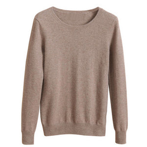 YuooMuoo High Quality Cashmere Sweater Women  Pullover Solid Knitted Sweater Top for Women  Female Oversized Sweater