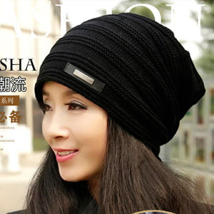 Brand Beanies Knit Winter Hats For Men Women Beanie Men's Winter Hat Caps Bonnet Outdoor Ski Sports Warm Baggy Cap M-128
