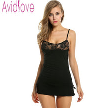 Avidlove Women Lace Nightgown Cotton Nightdress Stretch Bodycon Mini Dress Sleepwear Sexy Lingerie Plus Size Nightwear