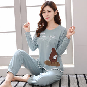 Striped Pajamas Cotton Couple Pajamas Set Women Sleepwear Pajama Sets Pijamas Mujer Lover Pyjamas Homewear Clothing