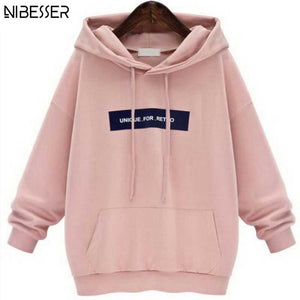 Sweatshirts Female Hoodie Pink & Gray Plus Size Sweatshirt Hoodies Women Long Sleeves Hoody For Women Thicken Hooded Sweatshirt