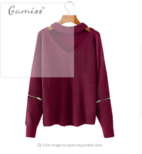 Gamiss Spring Women Sweaters Pullovers Casual Loose Knitted Sweater Women Tricot Pullover Jumpers Oversized Mujer Sweater