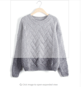 Pull Femme Women Sweaters And Pullovers Plaid Thick Knitting Mohair Sweater Female Loose Variegated LMY12