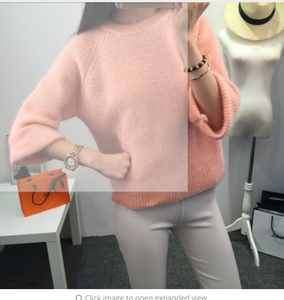 Women Pullover Sweater New Brand Fashion Warm Pullovers High Quality Candy Colors pull femme Comfort Soft Wool XSS1