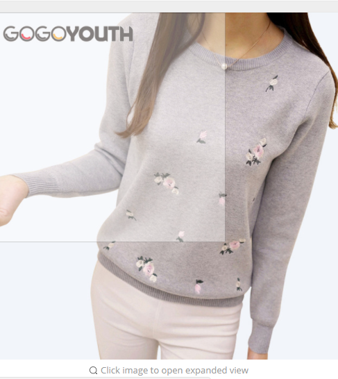 Gogoyouth Sweater Women Embroidery Knitted  Women Sweater And Pullover Female Tricot Jersey Jumper Pull Femme