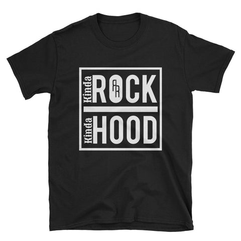 """Kinda Rock, Kinda Hood"" Short-Sleeve Unisex T-Shirt"
