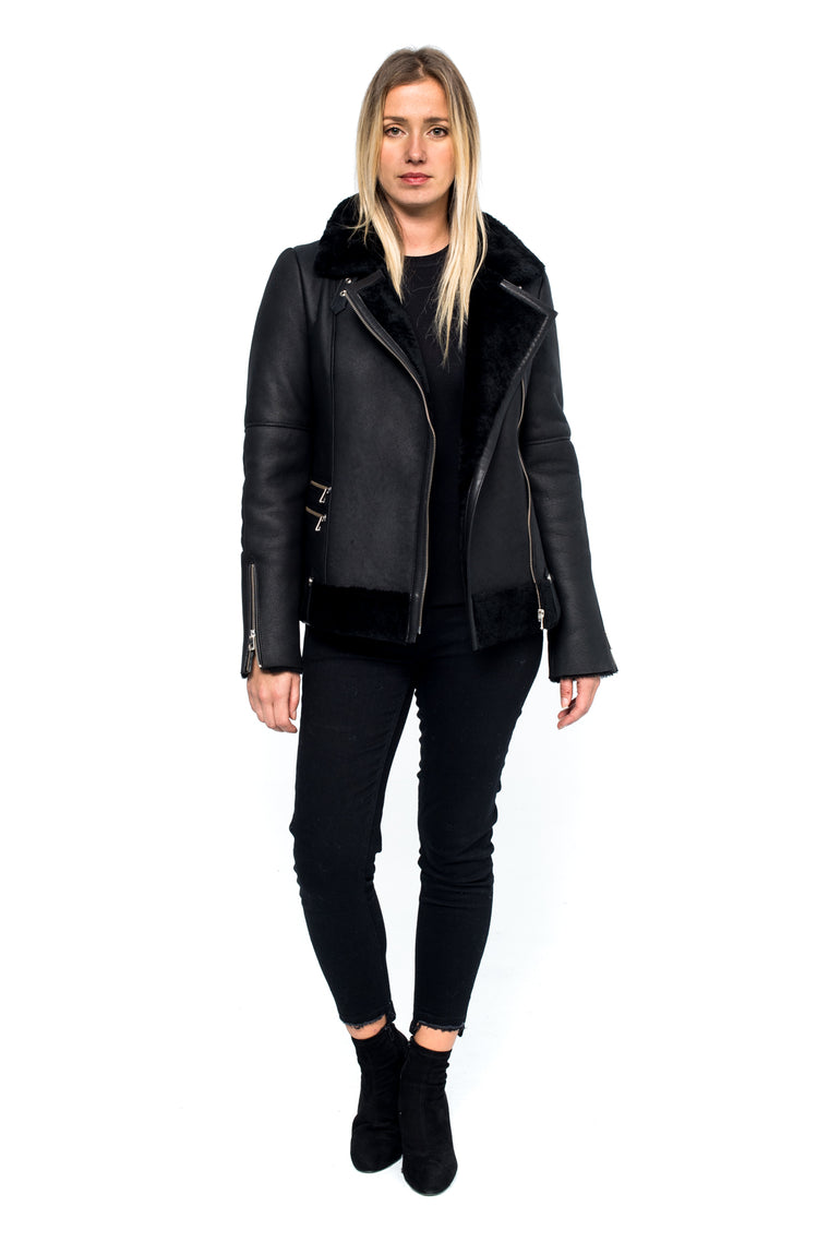 J-LO | Black Shearling