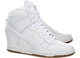 Nike Womens Dunk Sky Hi Essential White Gum Med Brown