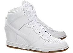 Nike Woman's Dunk Sky Hi Essential White Gum Med Brown