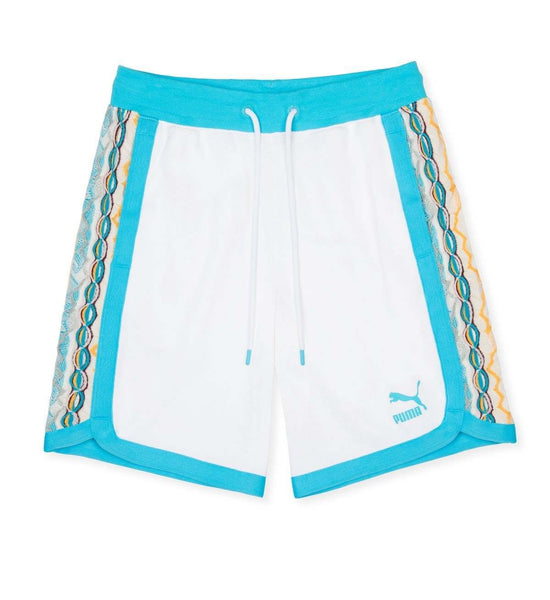 PUMA X COOGI BERMUDA SWEAT SHORTS PUMA WHITE