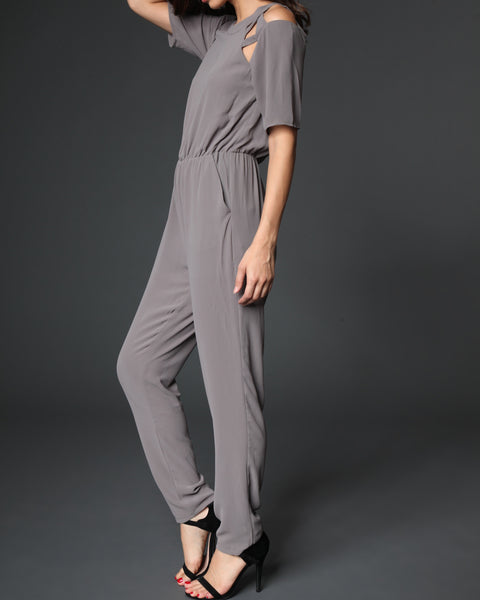 Zoey Jumpsuit- charcoal