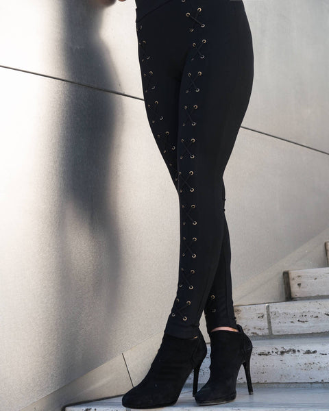 Madison Lace up Leggings