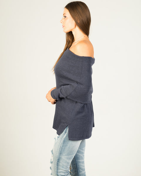 Demmi Denim off the shoulder Sweater