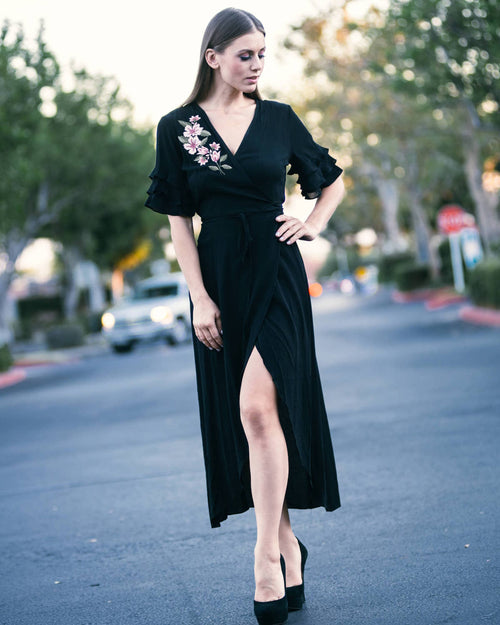 Valeria V-neck Wrap Dress
