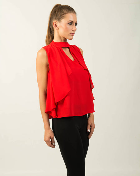 Carla Chambray Off the Shoulder Top